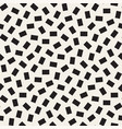 geometric scattered shapes seamless black vector image vector image