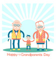 grandparents with grandchild family vector image