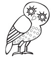 greek owl sign symbol vector image vector image