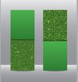 green sequins of card flyer brochure booklet vector image vector image