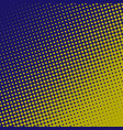 halftone pattern background blue and yellow color vector image