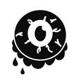 halloween zombie eye icon simple style vector image vector image