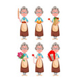 happy grandparents day cheerful grandmother vector image vector image