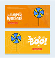 Happy halloween invitation design with candy