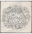 Hong Kong hand lettering and doodles elements vector image vector image