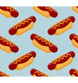Hot dog isometrics background Fast food seamless vector image