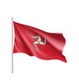 isle of man national flag vector image vector image