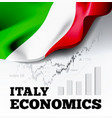 italy economics with italian vector image vector image