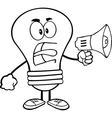 Light bulb yelling into microphone