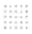 line icons set seo pack vector image