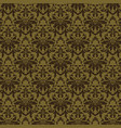 luxury damask background vector image vector image
