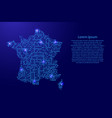 map france from printed board chip and radio vector image vector image