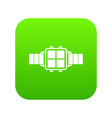 modern smart watch icon digital green vector image