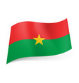 national flag of burkina faso red and green vector image vector image