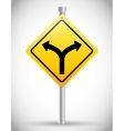 One way road sign advertising design vector image vector image
