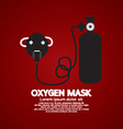 Oxygen Mask With Tank vector image vector image