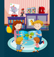 parents reading children a book vector image
