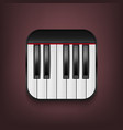 photorealistic piano keyboard icon design vector image vector image
