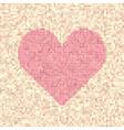 pixel art dot heart vector image vector image