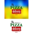 Pizza Delivery label vector image vector image