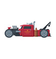 retro style race car old sports red vehicle vector image vector image