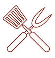 roasting utensil cutlery icon design vector image