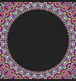 round floral frame design - border graphic element vector image vector image