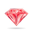 ruby gem on white background graphic vector image