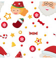 seamless background template with santa and vector image