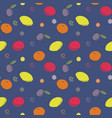 seamless fruit pattern fruit mix ornament vector image