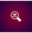 Search wi-fi connection flat icon vector image vector image