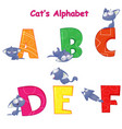 set of english alphabet with fun cartoon vector image vector image