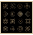 Set of mandalas or geometrical elements for vector image vector image