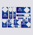 set of web banners of standard size with a square vector image vector image
