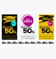 set vertical sale posters vector image