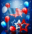 shiny usa celebration independence day concept vector image