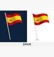 spain flag waving national flag spain isolated vector image vector image