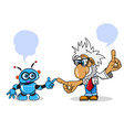 stock scientist and robot vector image