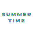 summer time colorful geometric type banner vector image vector image
