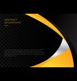 template abstract yellow and black contrast vector image vector image