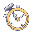 timer clock with handles countdown and speed vector image