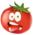 Tomato with facial expression vector image vector image