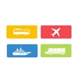 Transport symbols set vector image vector image