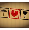 Valentine broken heart vector image