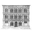 vendramin palace at venice freedom of vector image vector image