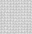 white seamless knitted pattern vector image vector image