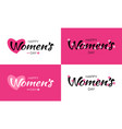womens day greeting cards and lettering vector image vector image