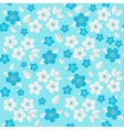 Background of seamless floral pattern vector image