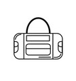 line sport bag to save the clohes vector image
