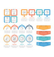 4 steps infographics vector image